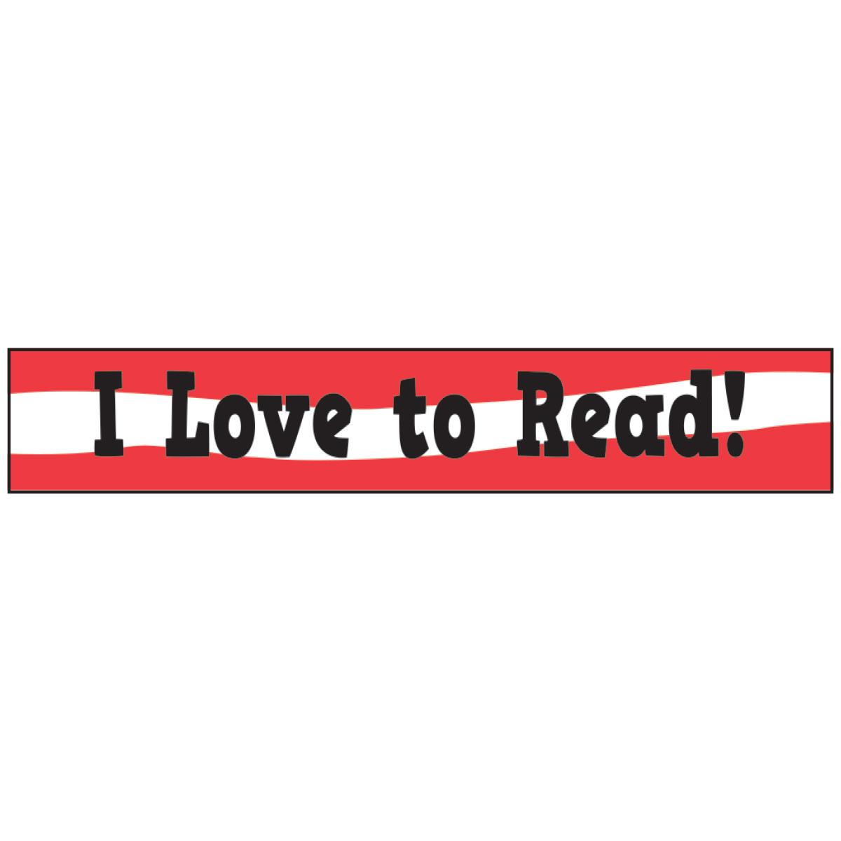 I Love to Read! Fancy Wristbands Pack
