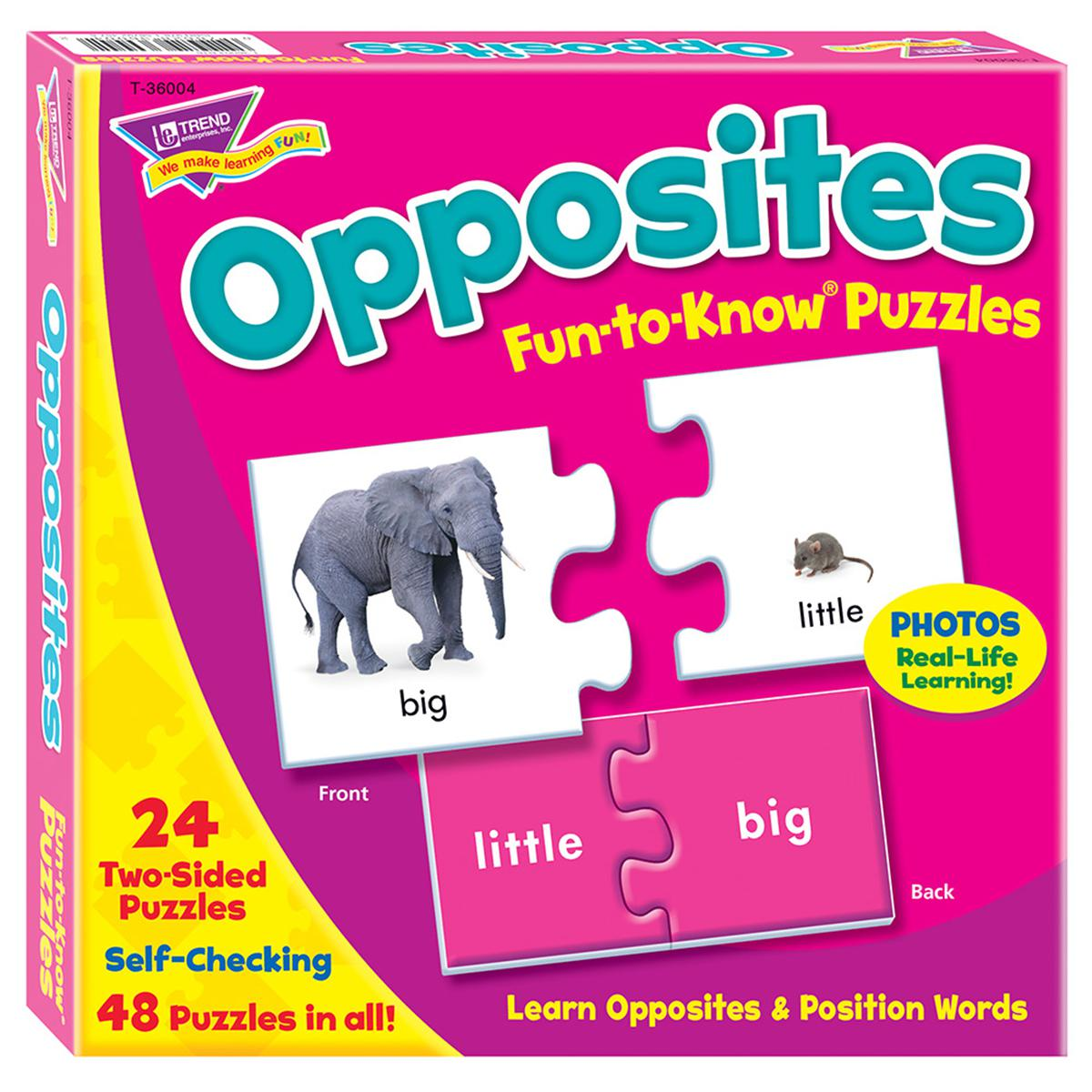 Fun to Know Puzzles: Opposites