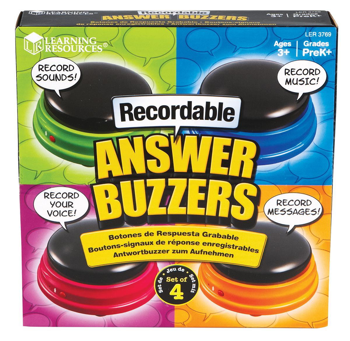 Recordable Answer Buzzers