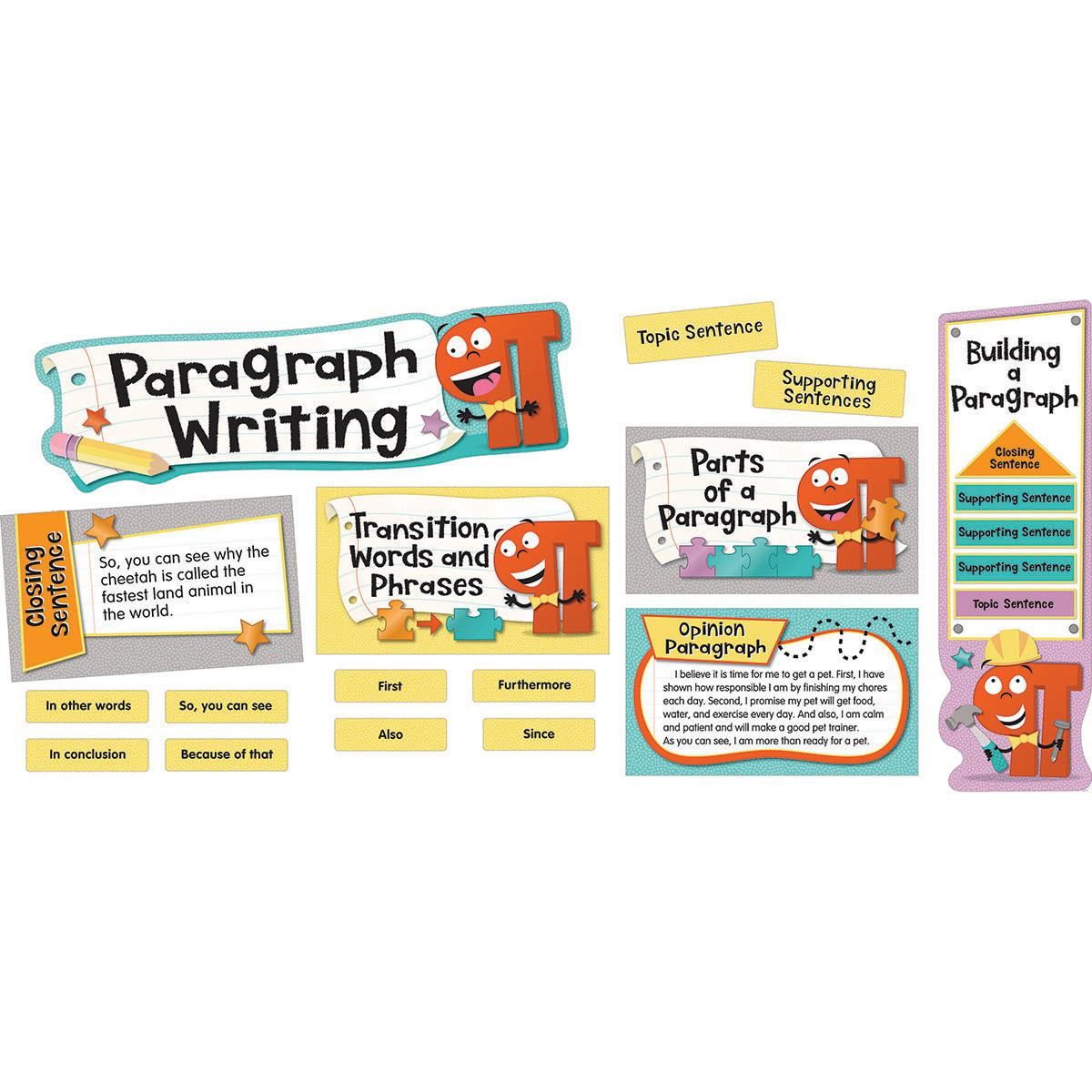 Paragraph Writing Mini Bulletin Board Set