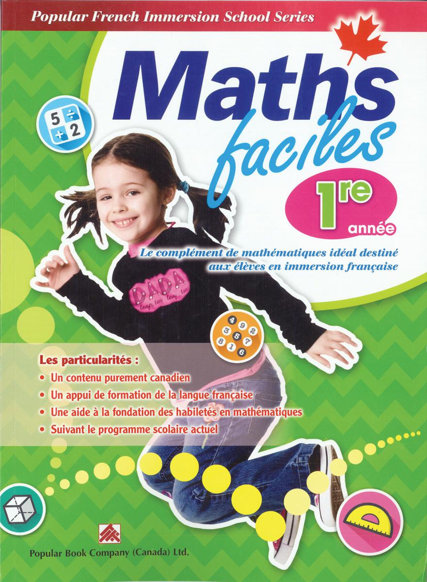 Maths faciles for French Immersion - Grade 1
