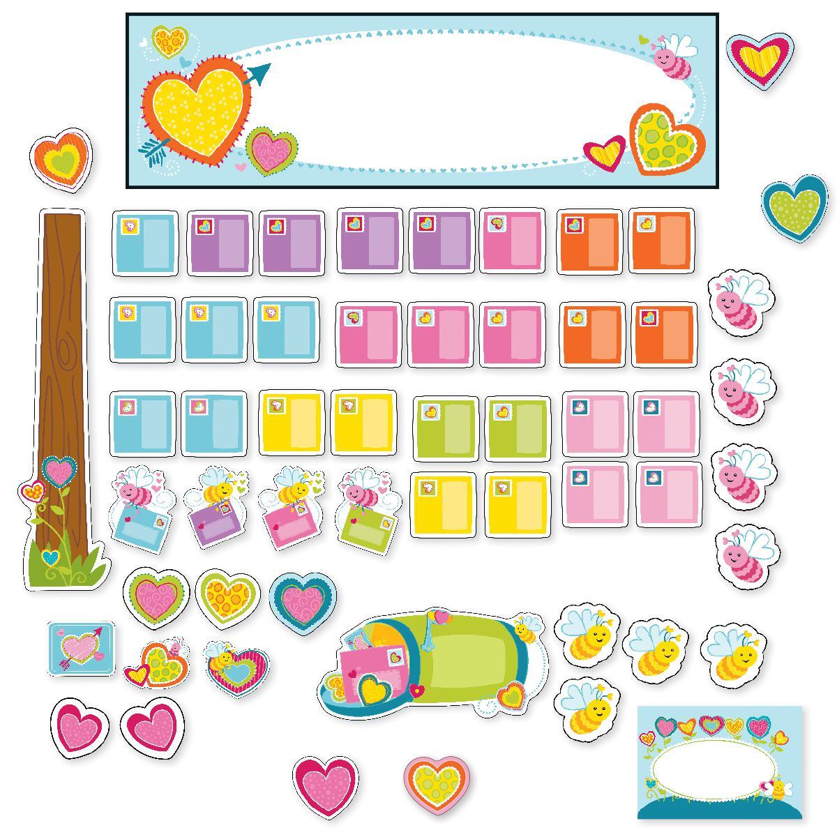 Valentine's Mini Bulletin Board Set