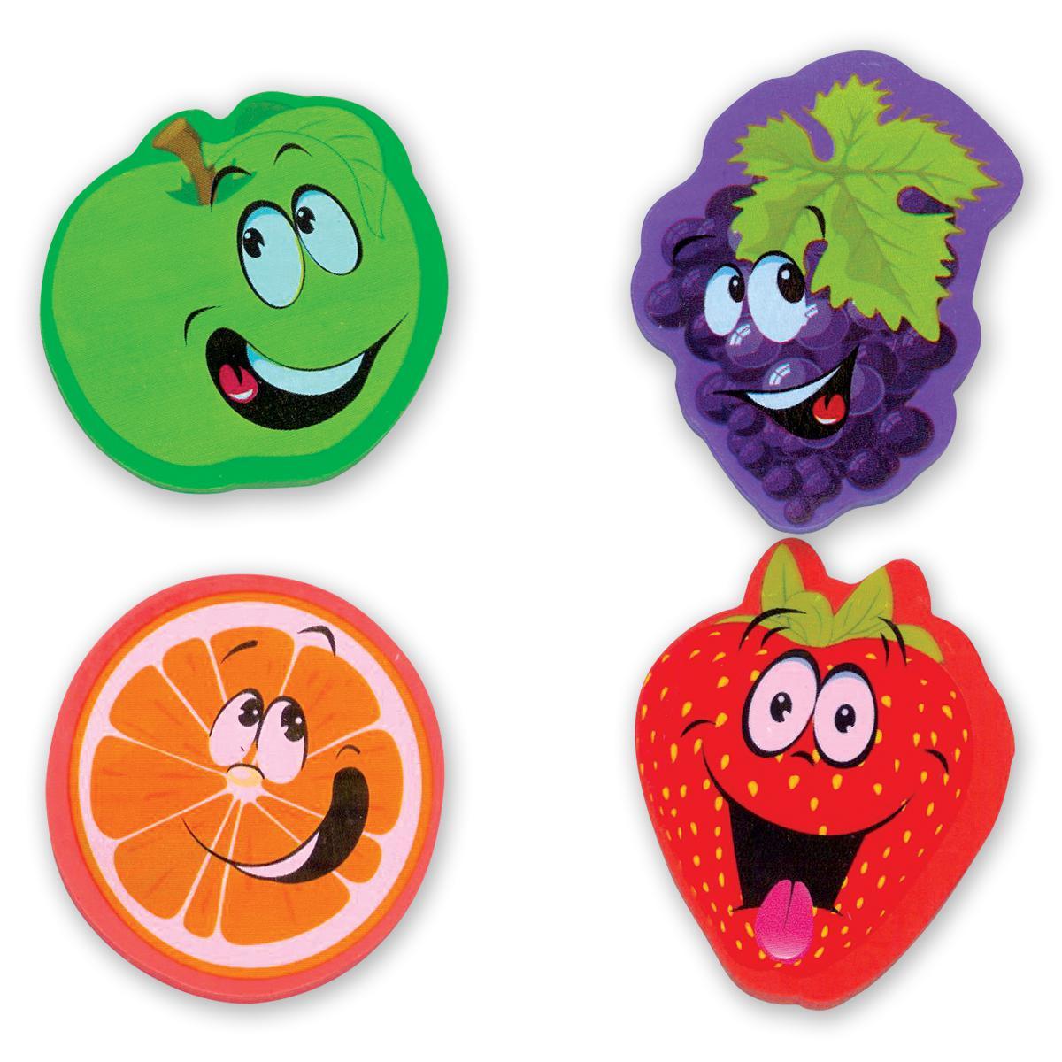 Gommes à effacer parfumées en forme de fruits