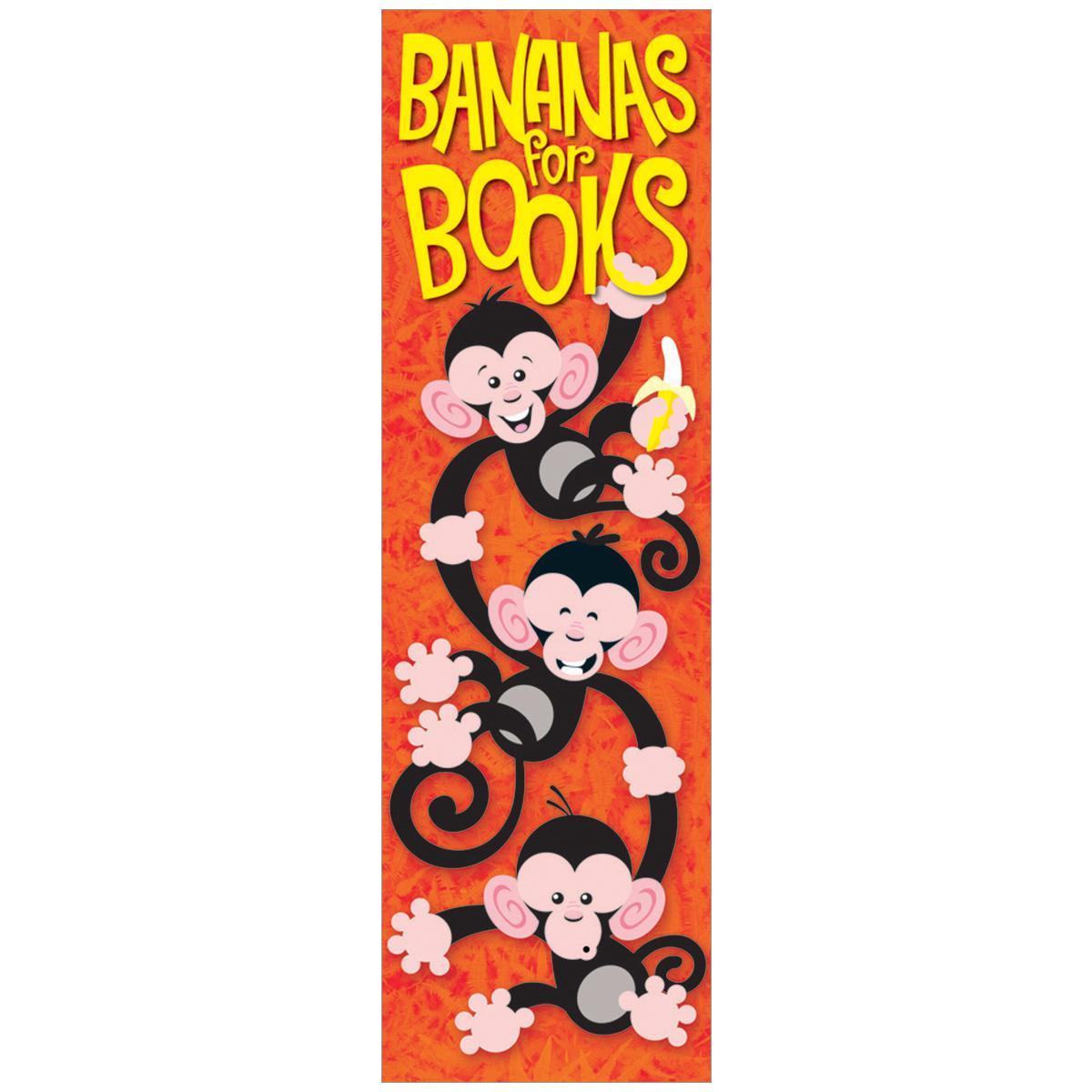 Bananas for Books Bookmarks