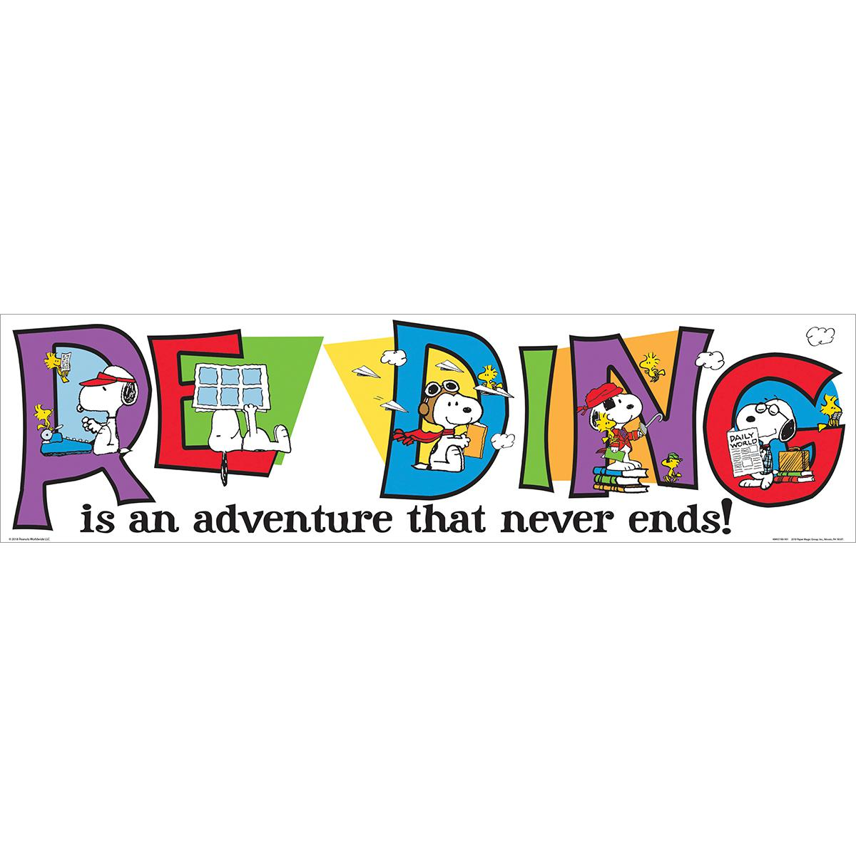 Peanuts® Snoopy Reading Banner