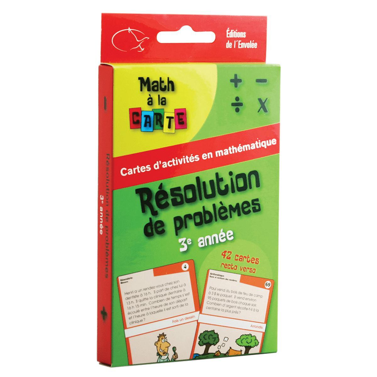 Math à la carte : Résolution de problèmes - 3e année