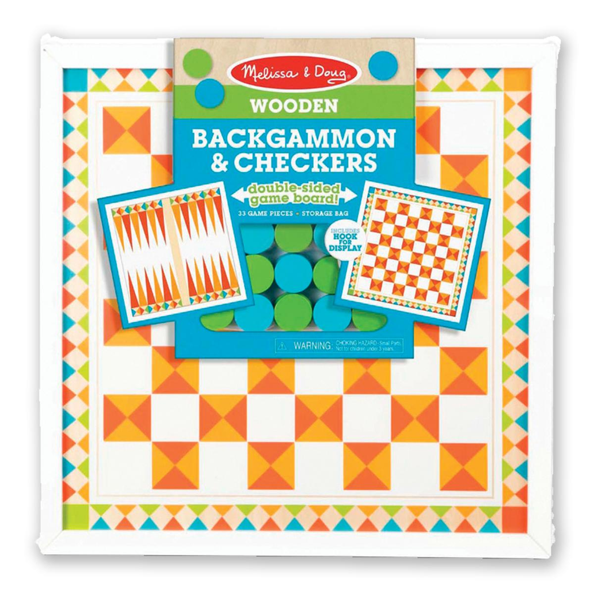 Wooden Backgammon & Checkers