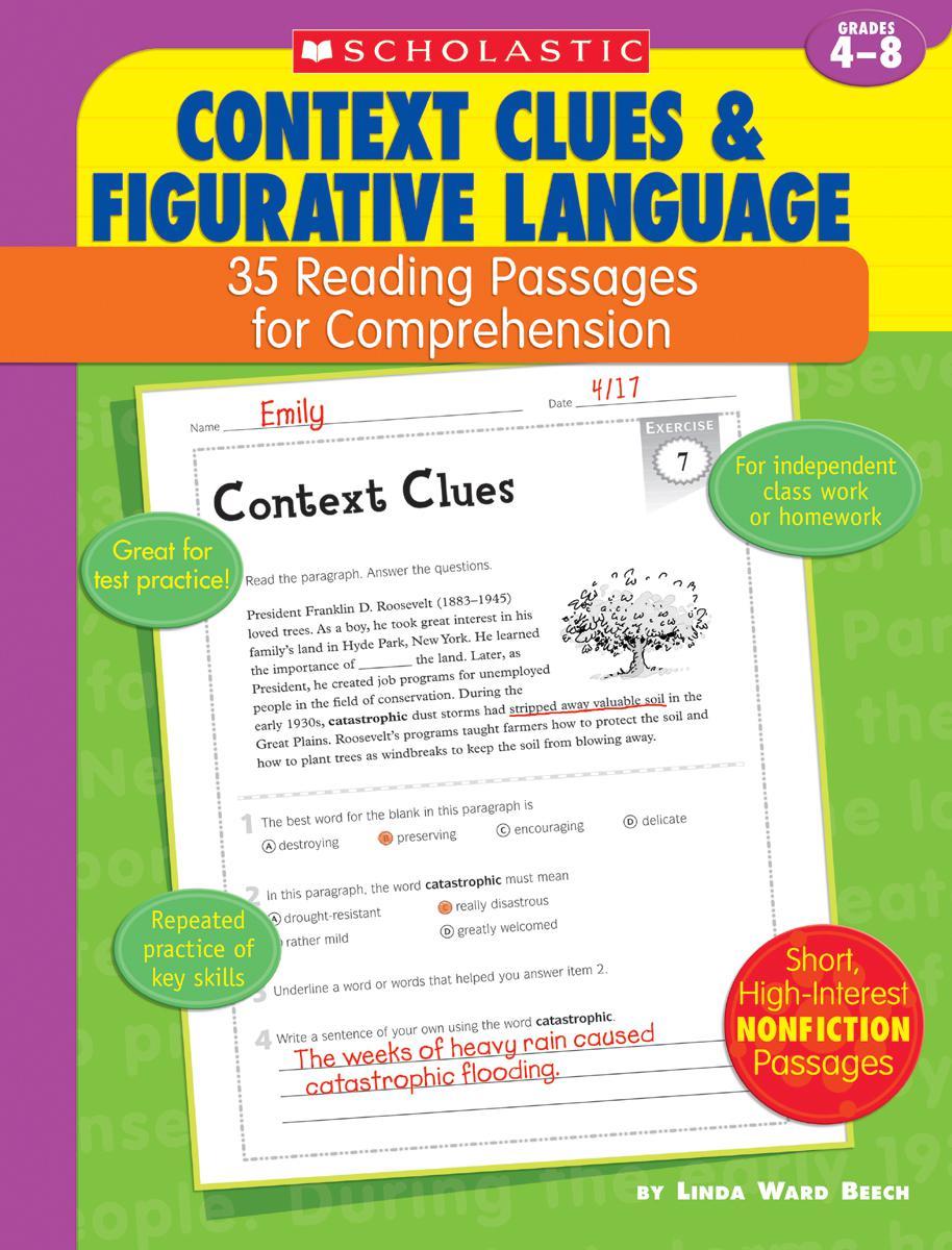 35 Reading Passages for Comprehension Context Clues & Figurative Language
