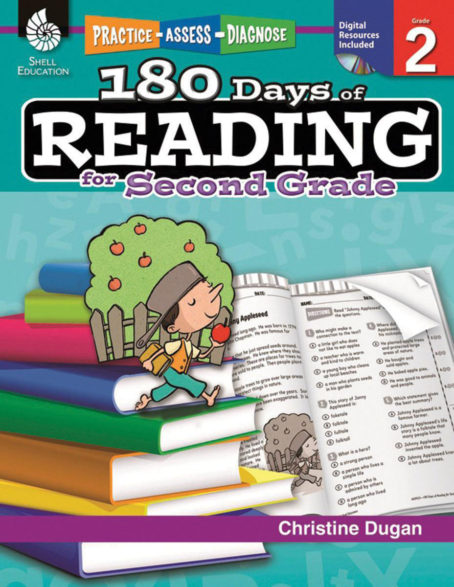 Practice, Assess, Diagnose: 180 Days of Reading, Grade 2