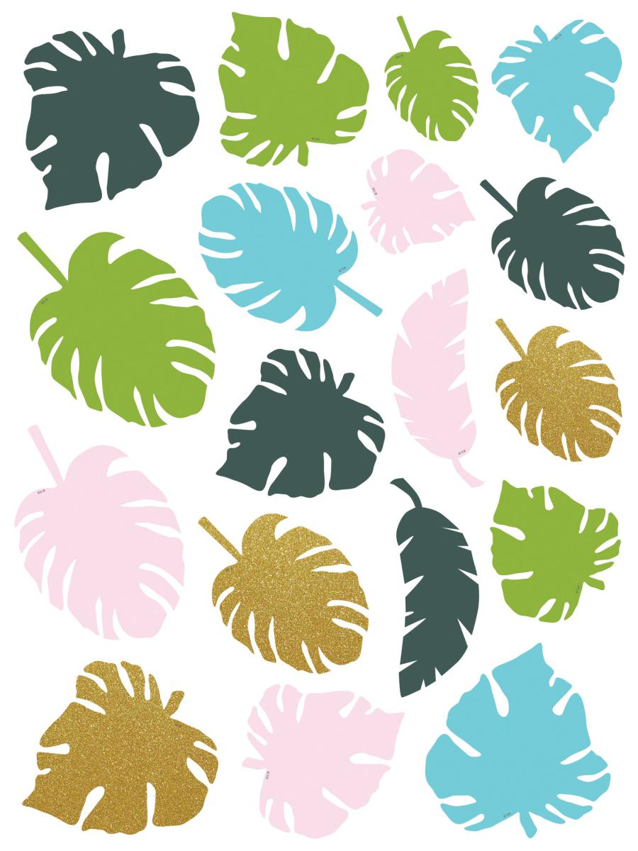 Tropical Palm Leaves Accents