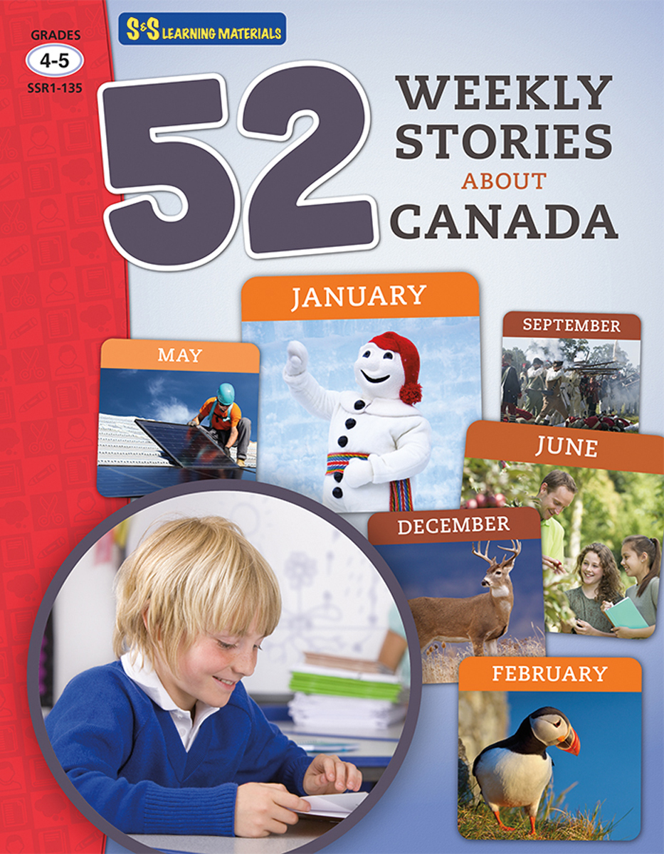 52 Weekly Stories About Canada: Gr. 4-5