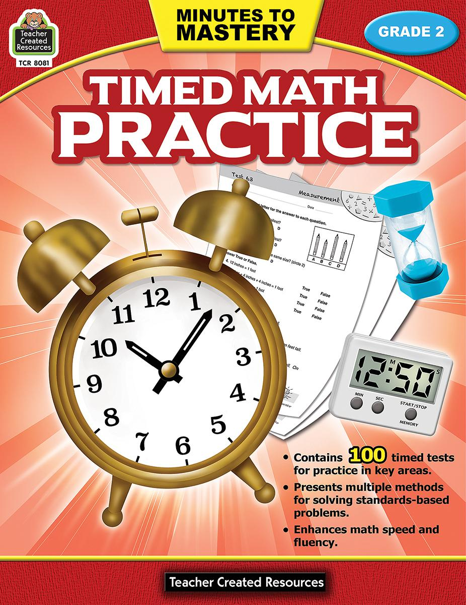 Minutes to Mastery: Timed Math Practice: Gr 2