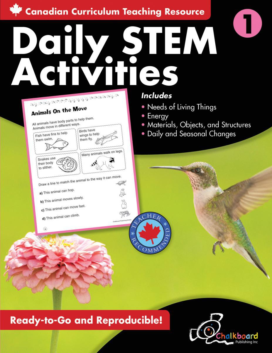 Canadian Daily STEM Activities Grade 1