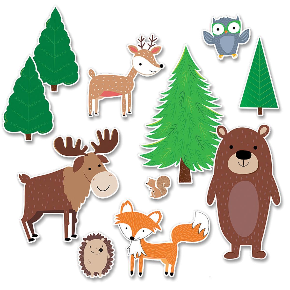Jumbo Woodland Friends Bulletin Board Set