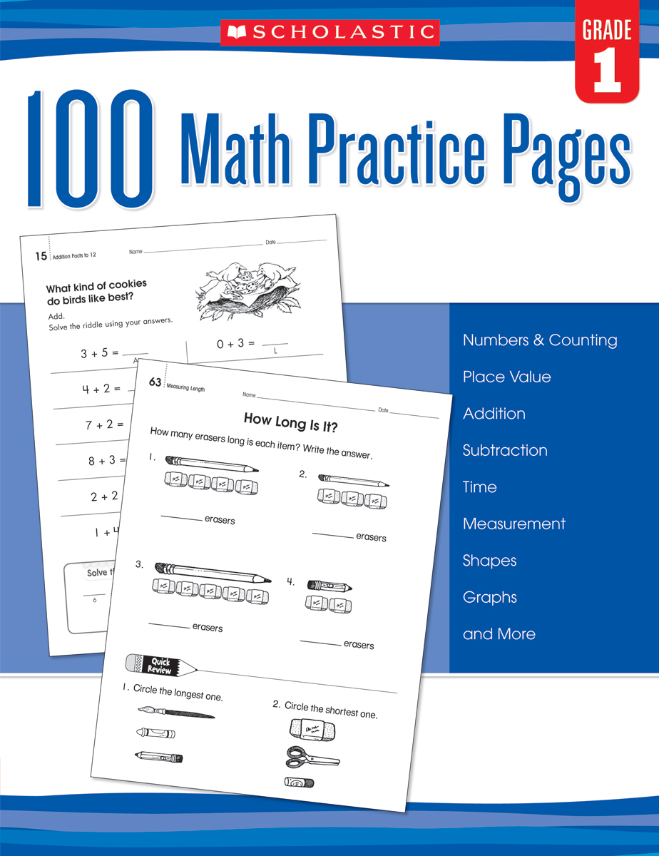 100 Math Practice Pages: Gr. 1