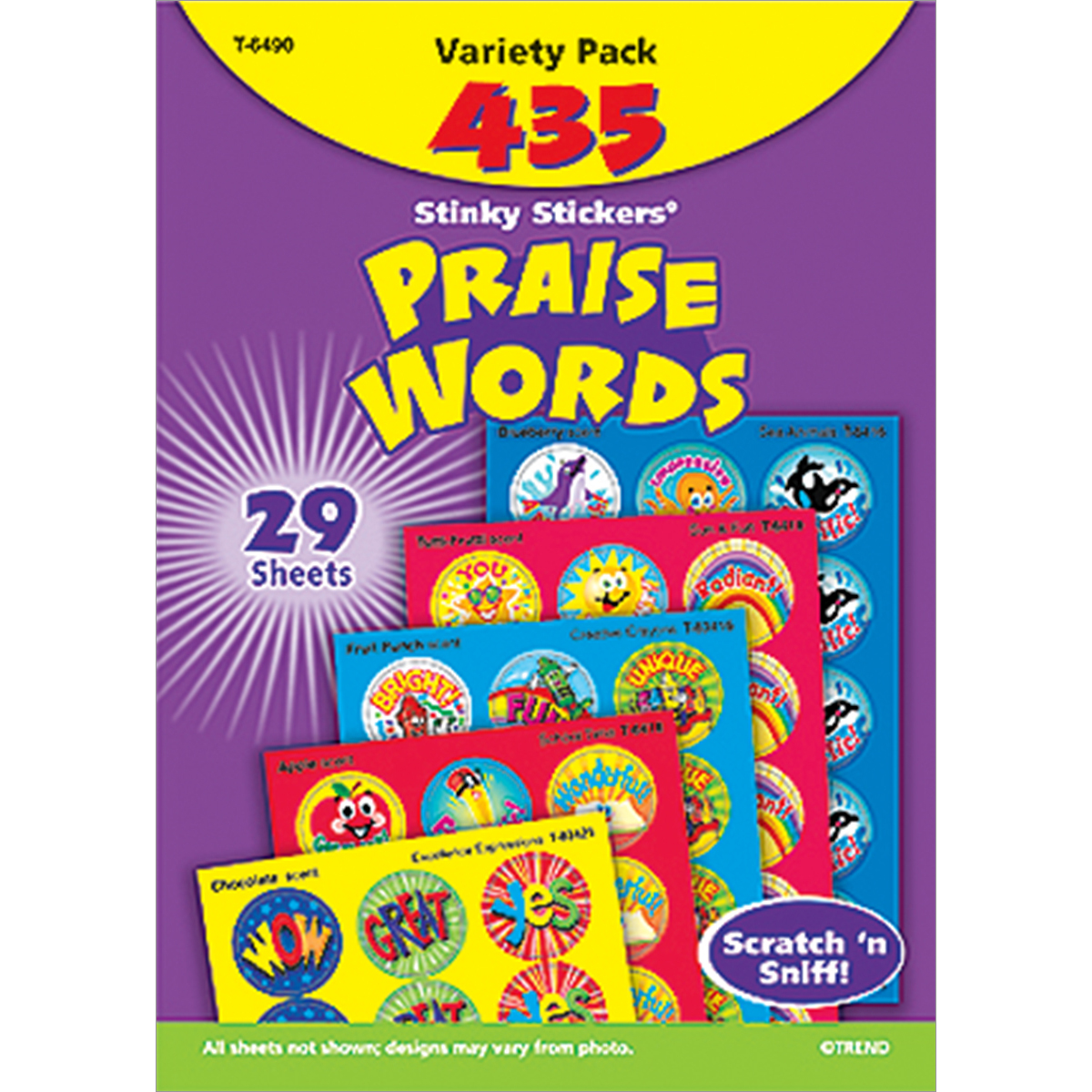 Praise Words Stinky Stickers Variety Pack