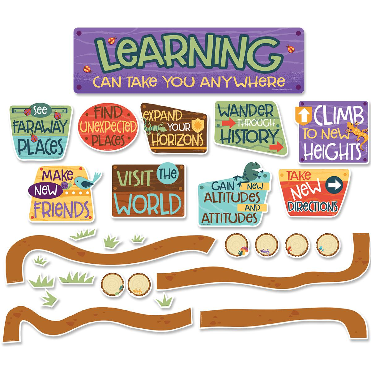 Nature Explorers Learning Can Take You Anywhere Mini Bulletin Board Set