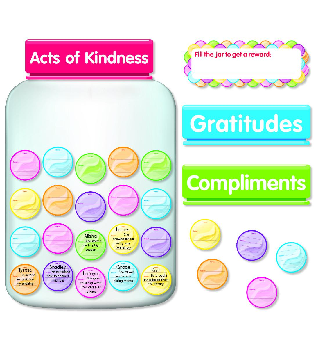 Kindness & Gratitude Jar Bulletin Board Set