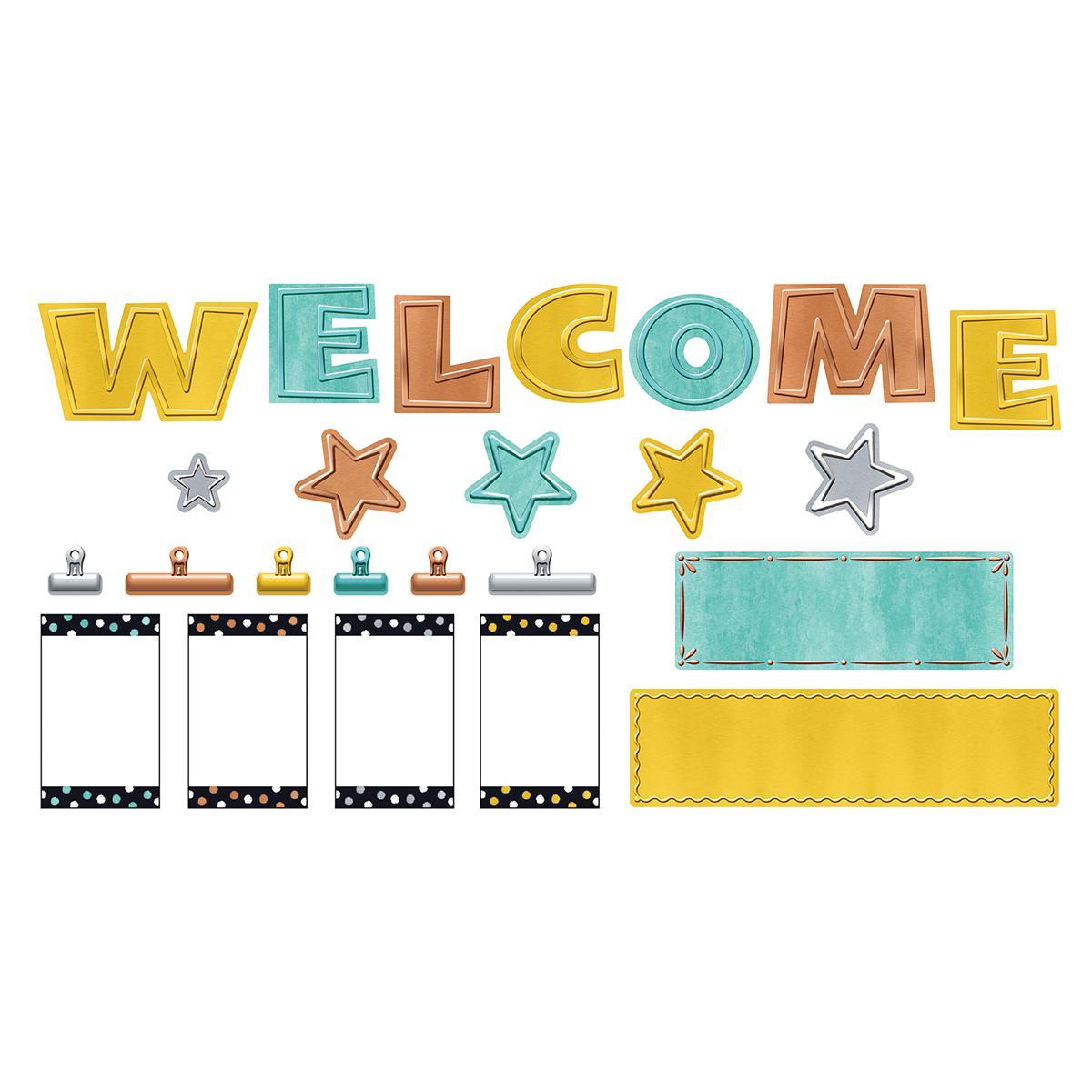 I Love Metal Wipe-Off Welcome Mini Bulletin Board Set