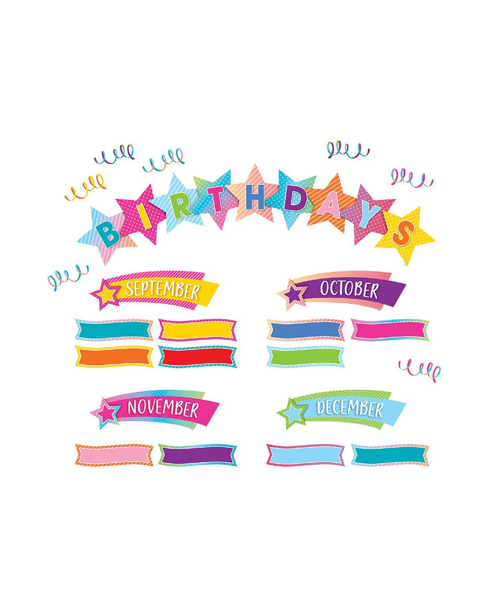 Colorful Vibes Birthdays Mini Bulletin Board Set