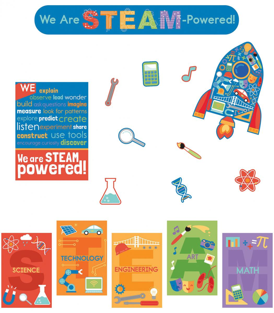 We Are STEAM-Powered Bulletin Board Set