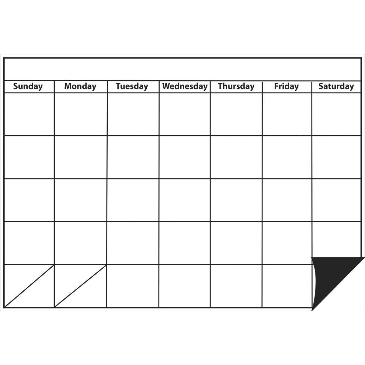 Magnetic Big Monthly Calendar