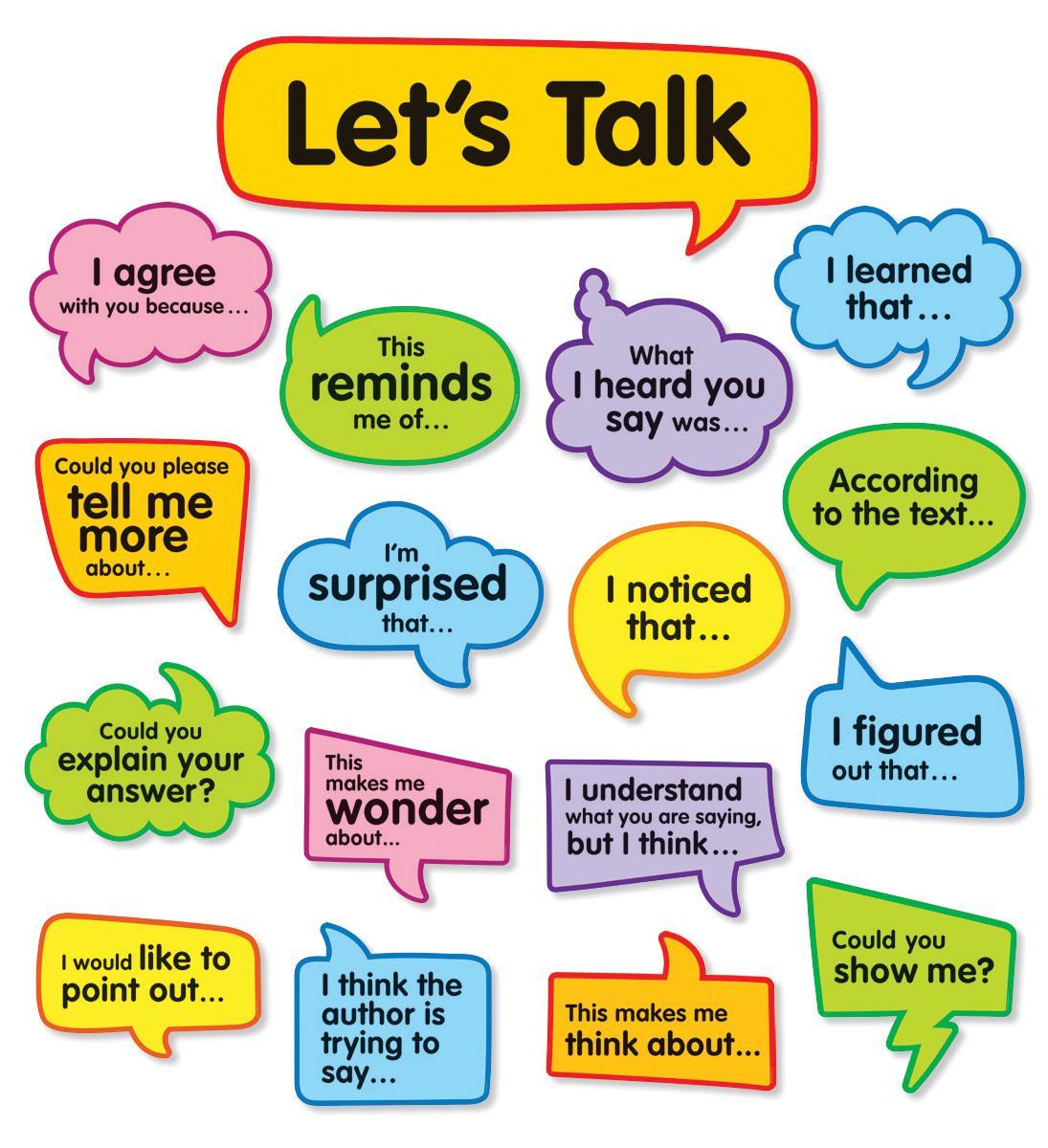 Conversation Starters Bulletin Board Set