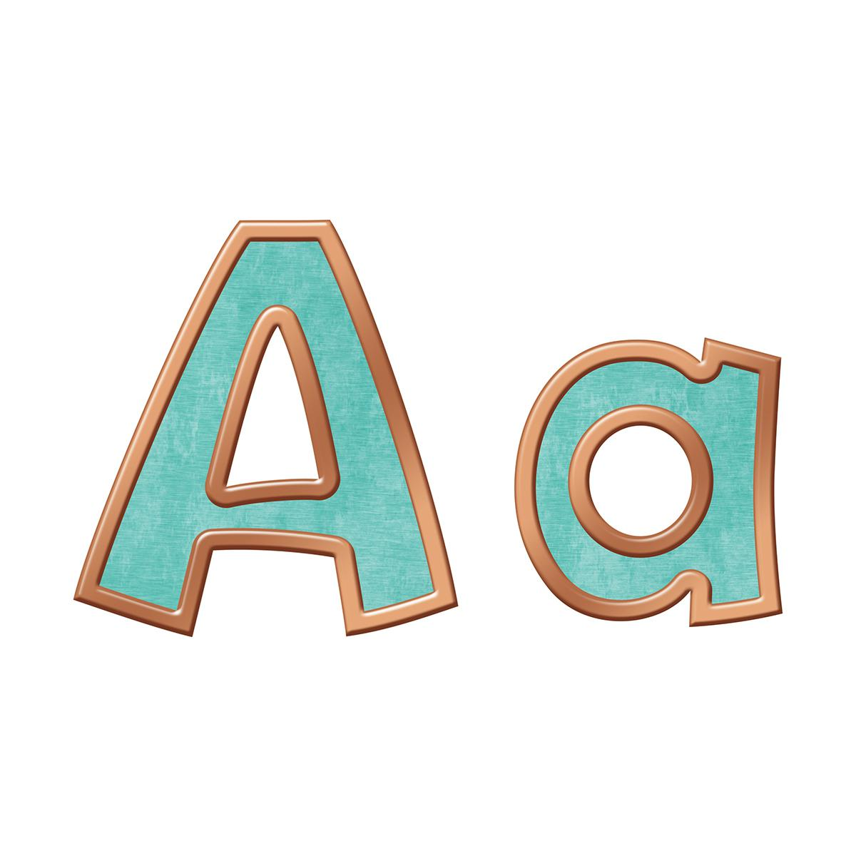 Playful Combo Ready Letters: I Love Metal: Copper & Patina