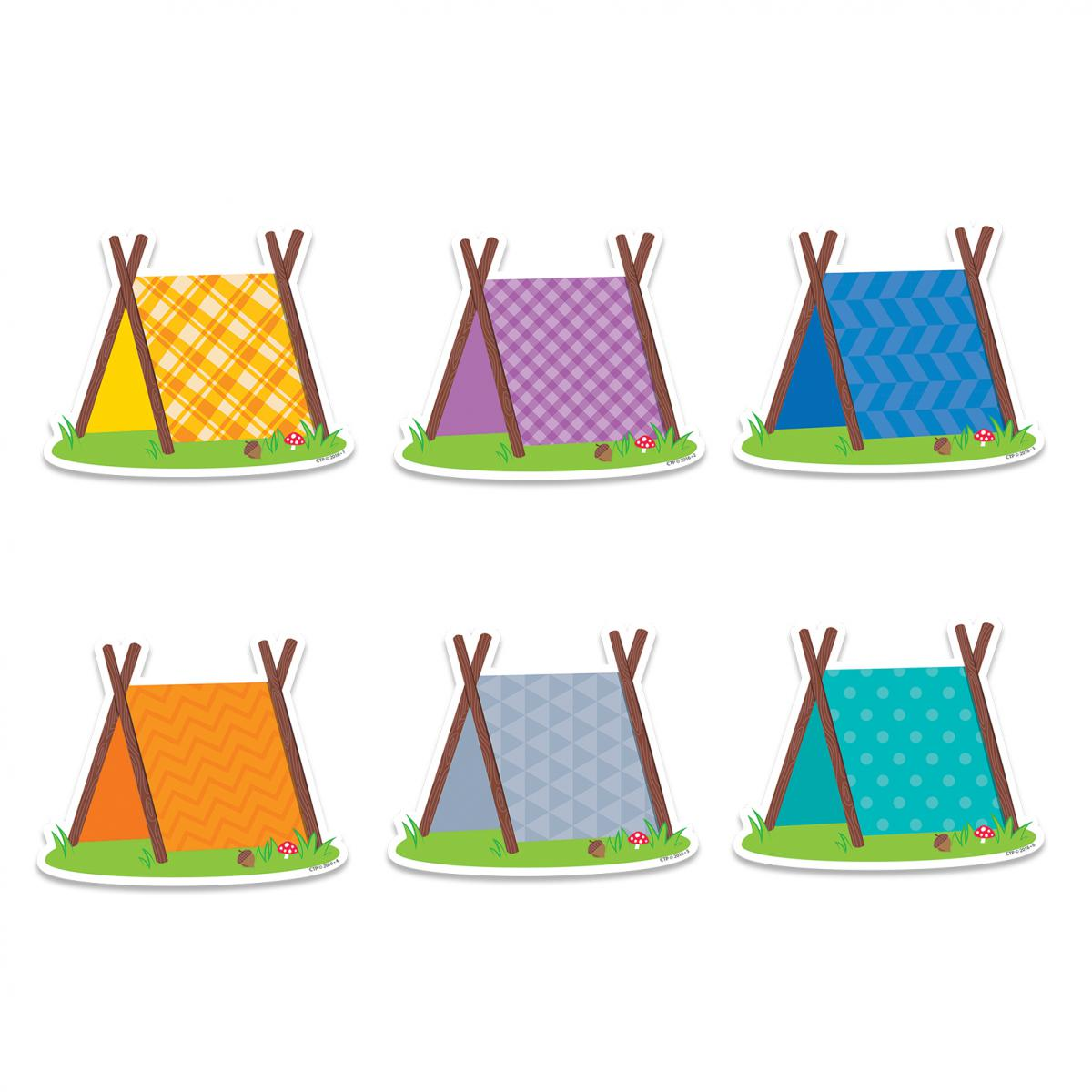 Woodland Friends Pup Tents Cut-Outs