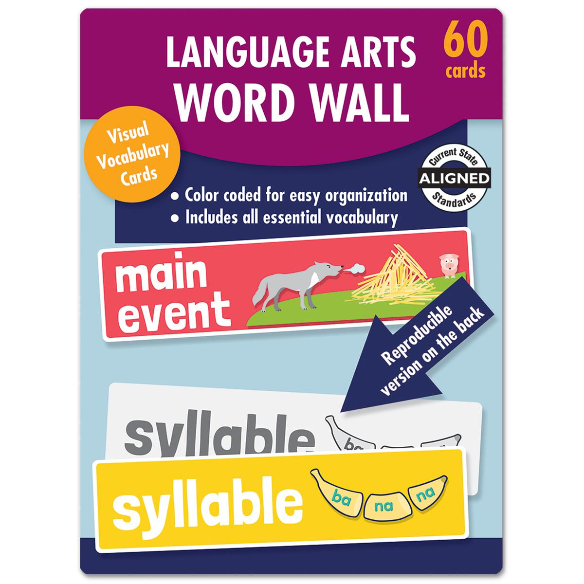 Language Arts Word Walls Learning Cards Gr. K