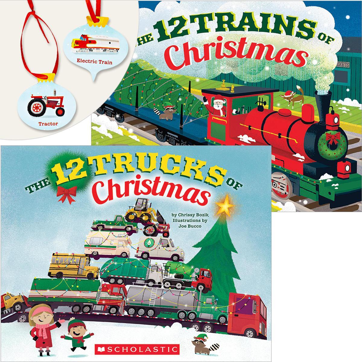 12 Trucks & Trains of Christms Pack