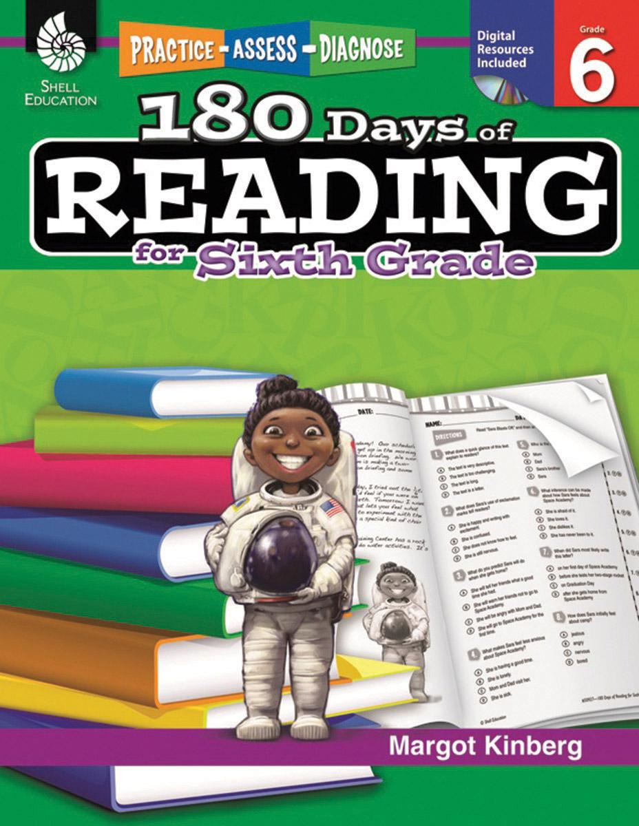 Practice, Assess, Diagnose: 180 Days of Reading, Grade 6