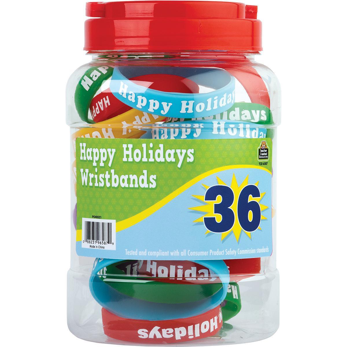 Happy Holidays Wristband Jar