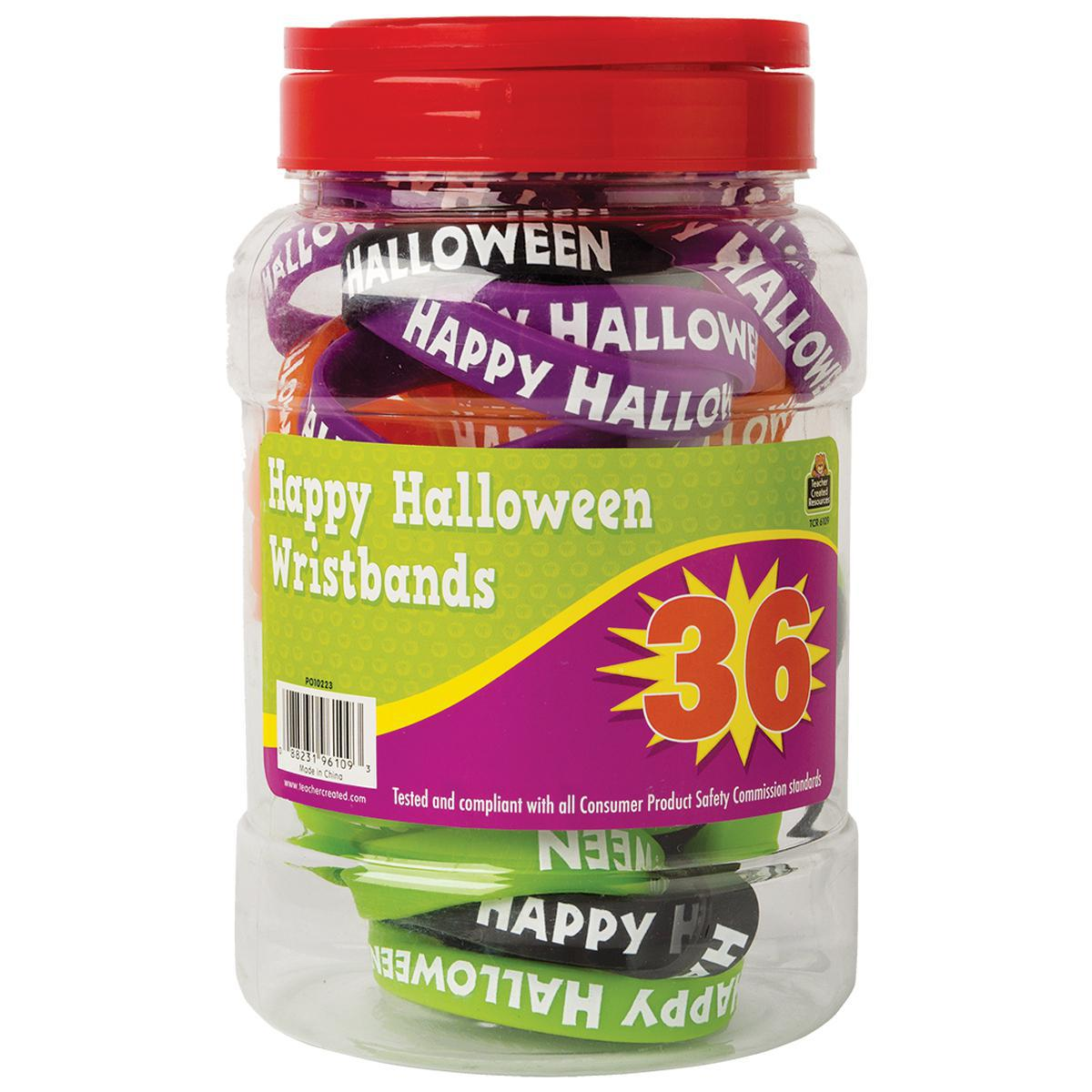 Happy Halloween Wristband Jar