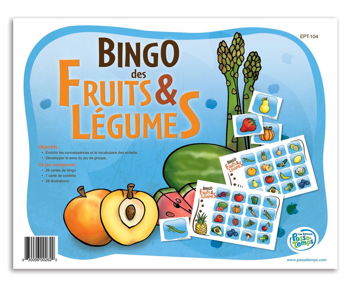 Bingo des fruits et légumes