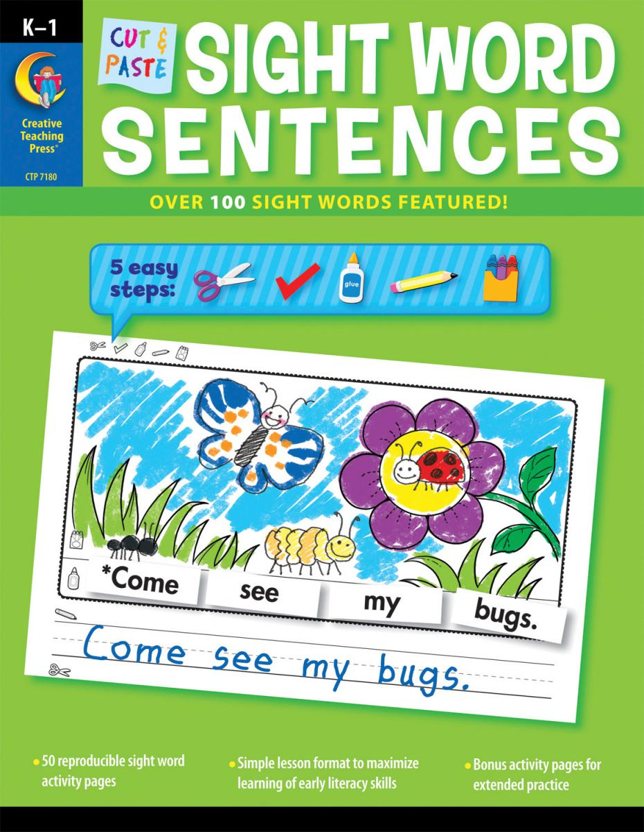 Cut & Paste Sight Word Sentences