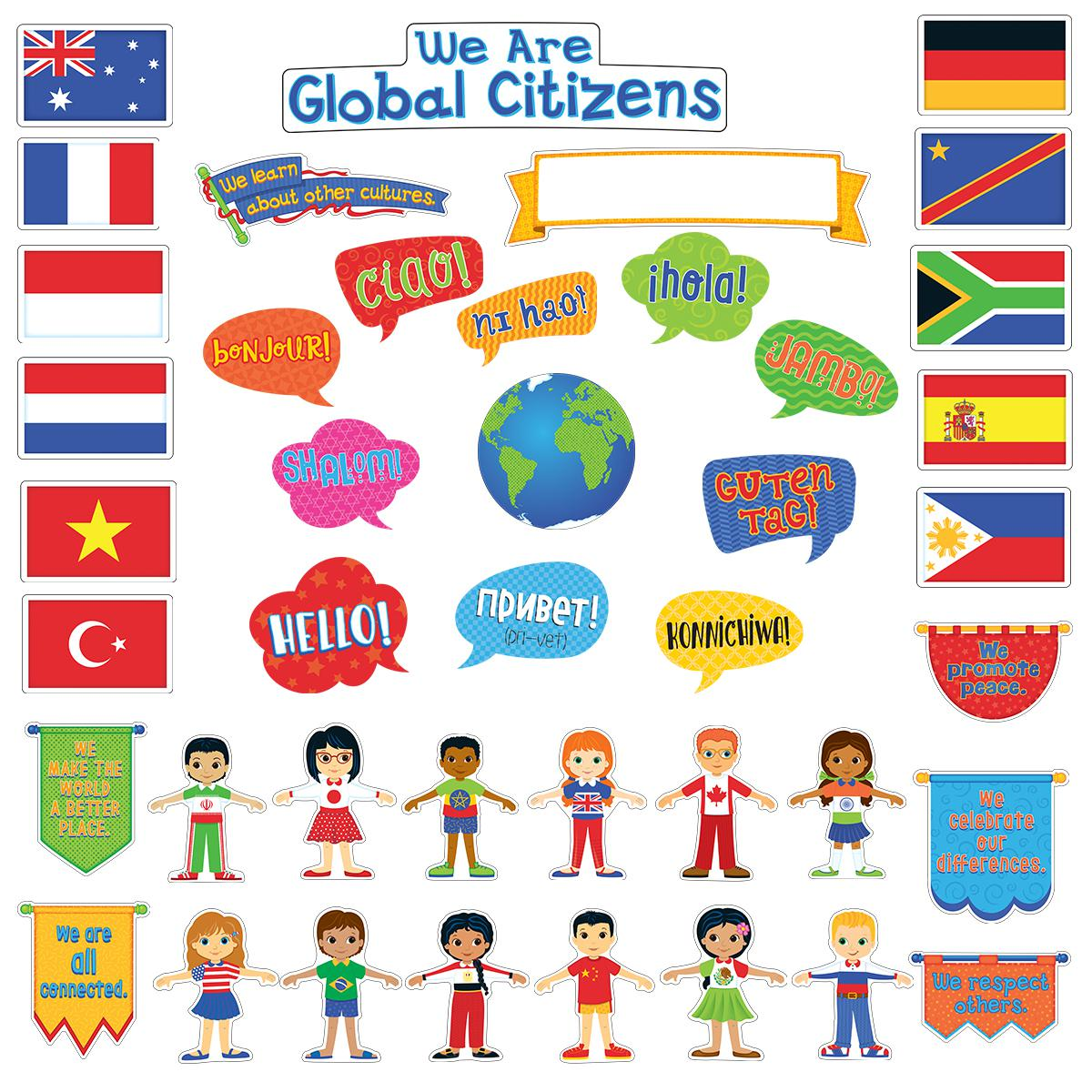 We Are All Global Citizens Bulletin Board Set