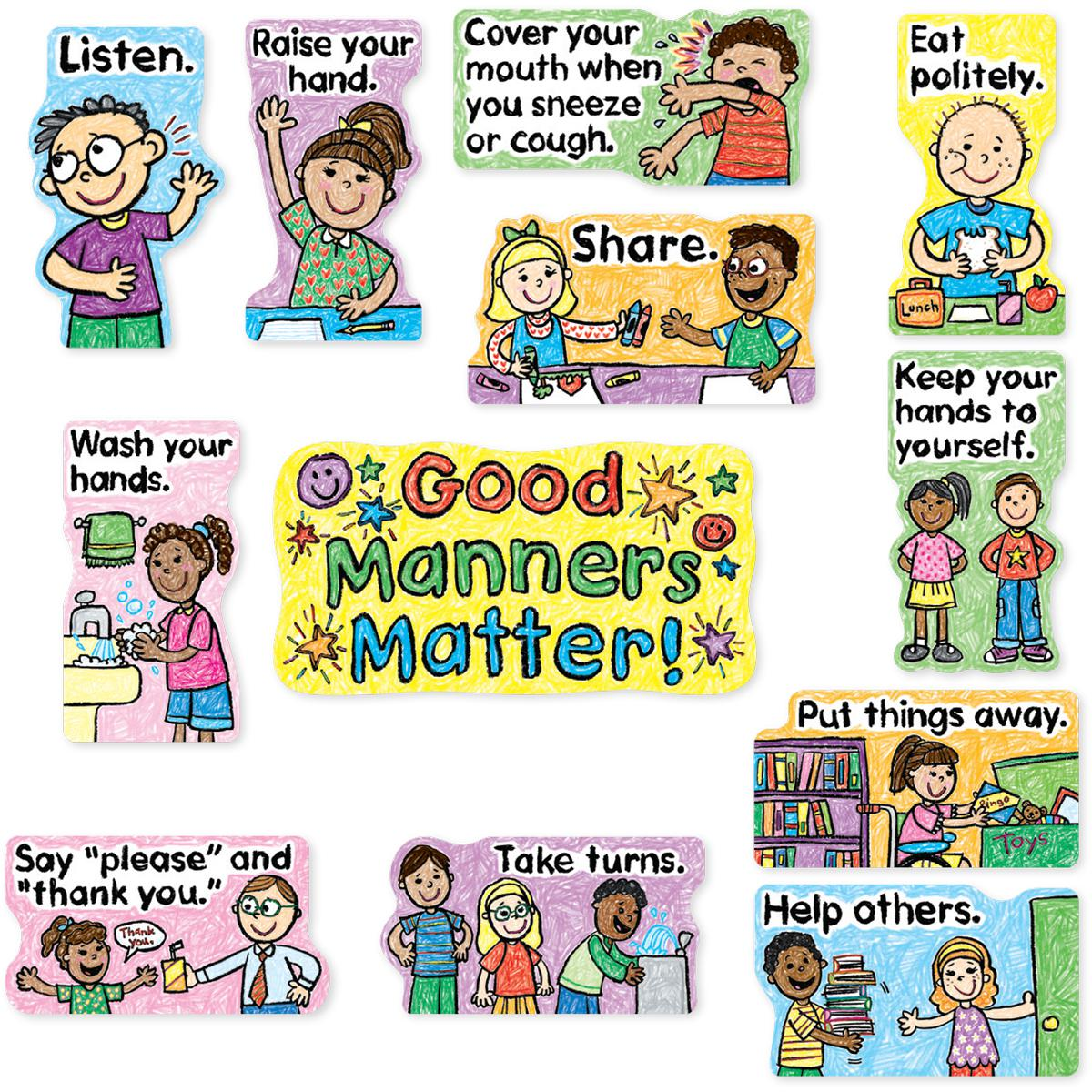 Good Manners Matter! Mini Bulletin Board Set