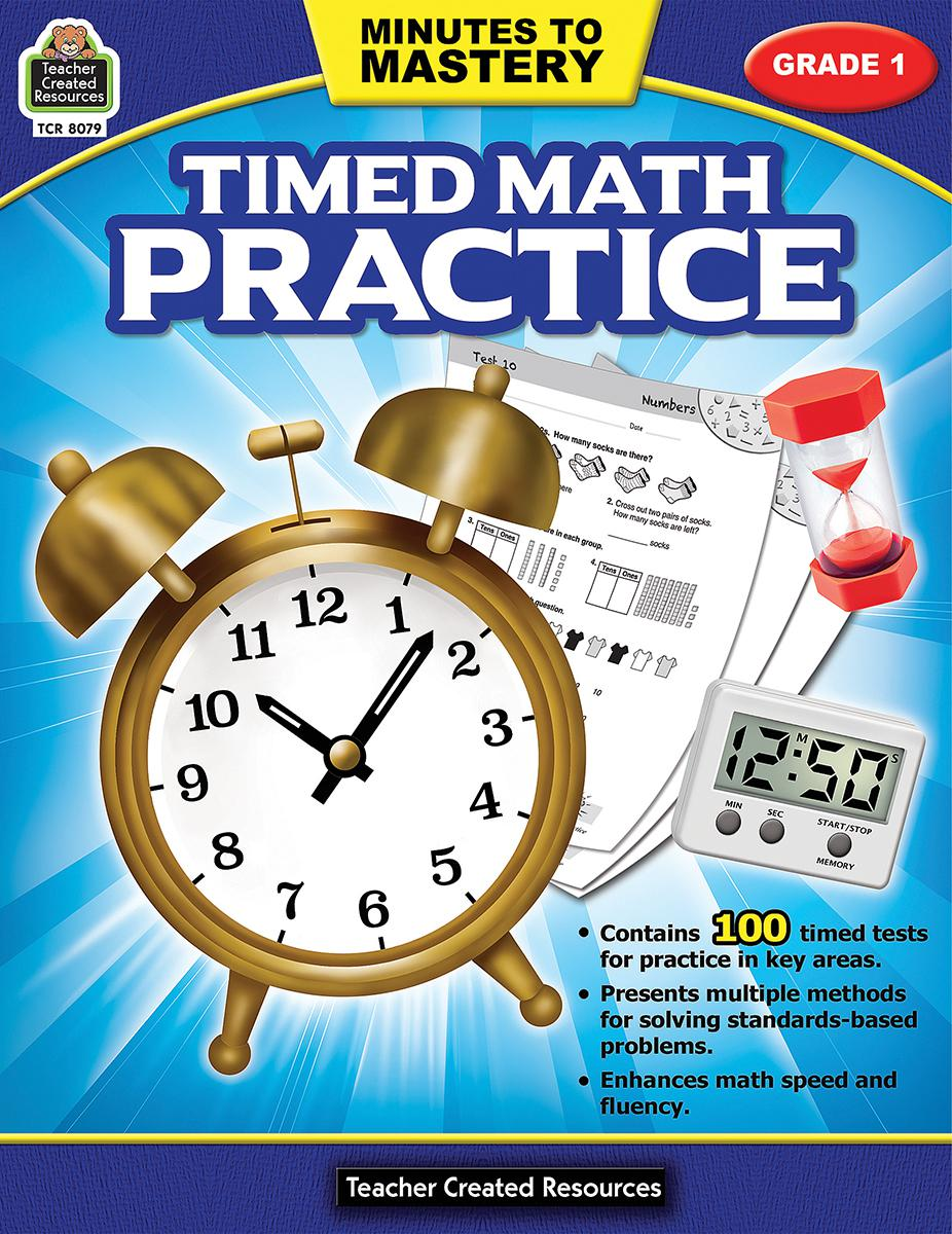 Minutes to Mastery: Timed Math Practice: Grade 1