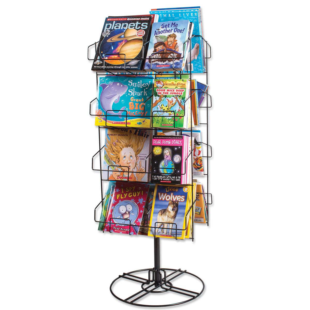 Freestanding Spinner Book Rack
