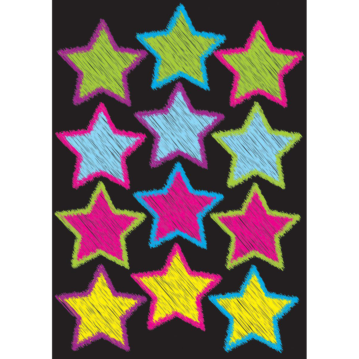 Scribble Star Magnetic Die-Cut Accents