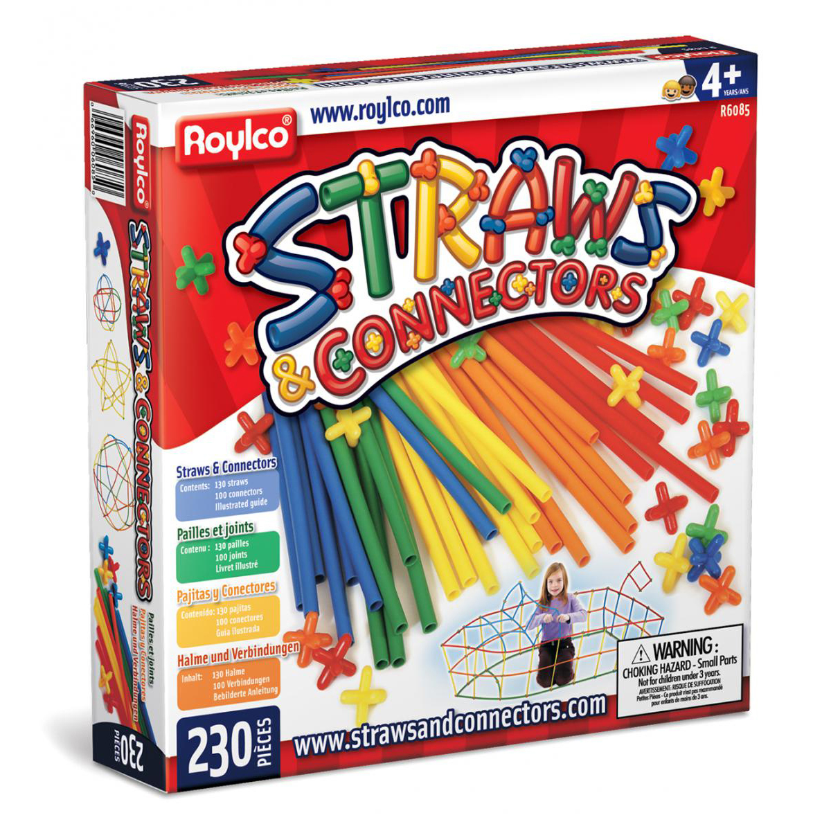 Straws & Connectors Creative Building Set (230 Pieces)