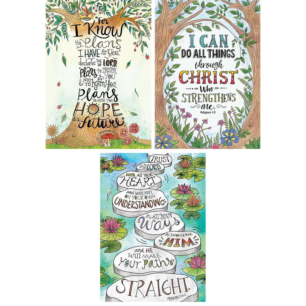Devotional Bible Verses Rejoice Poster 3-Pack