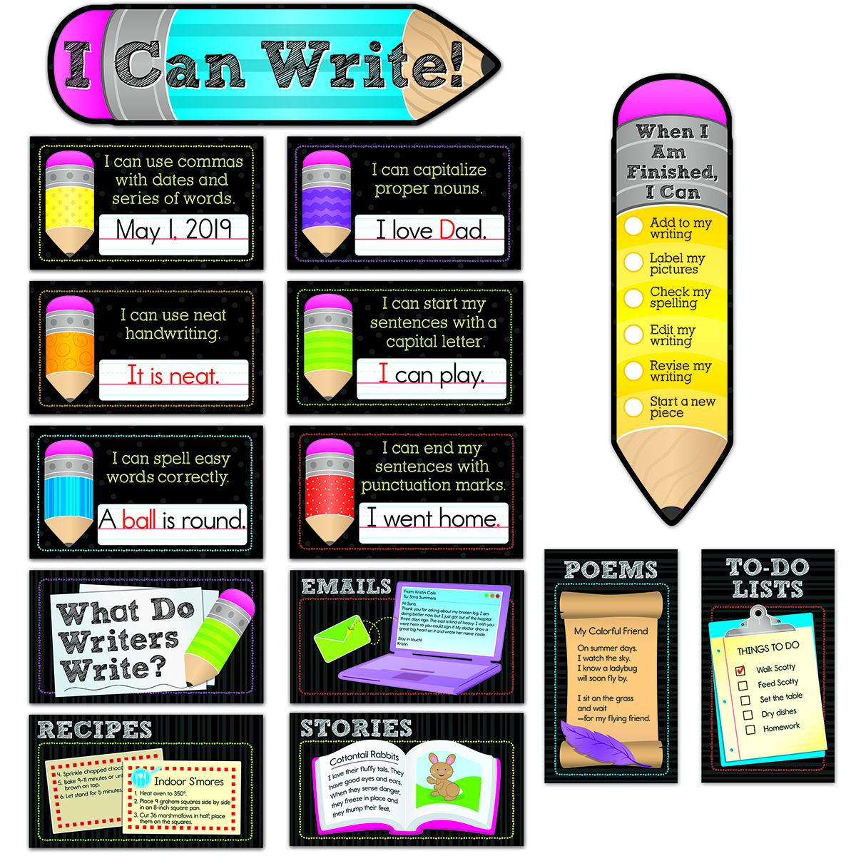 I Can Write! Mini Bulletin Board Set