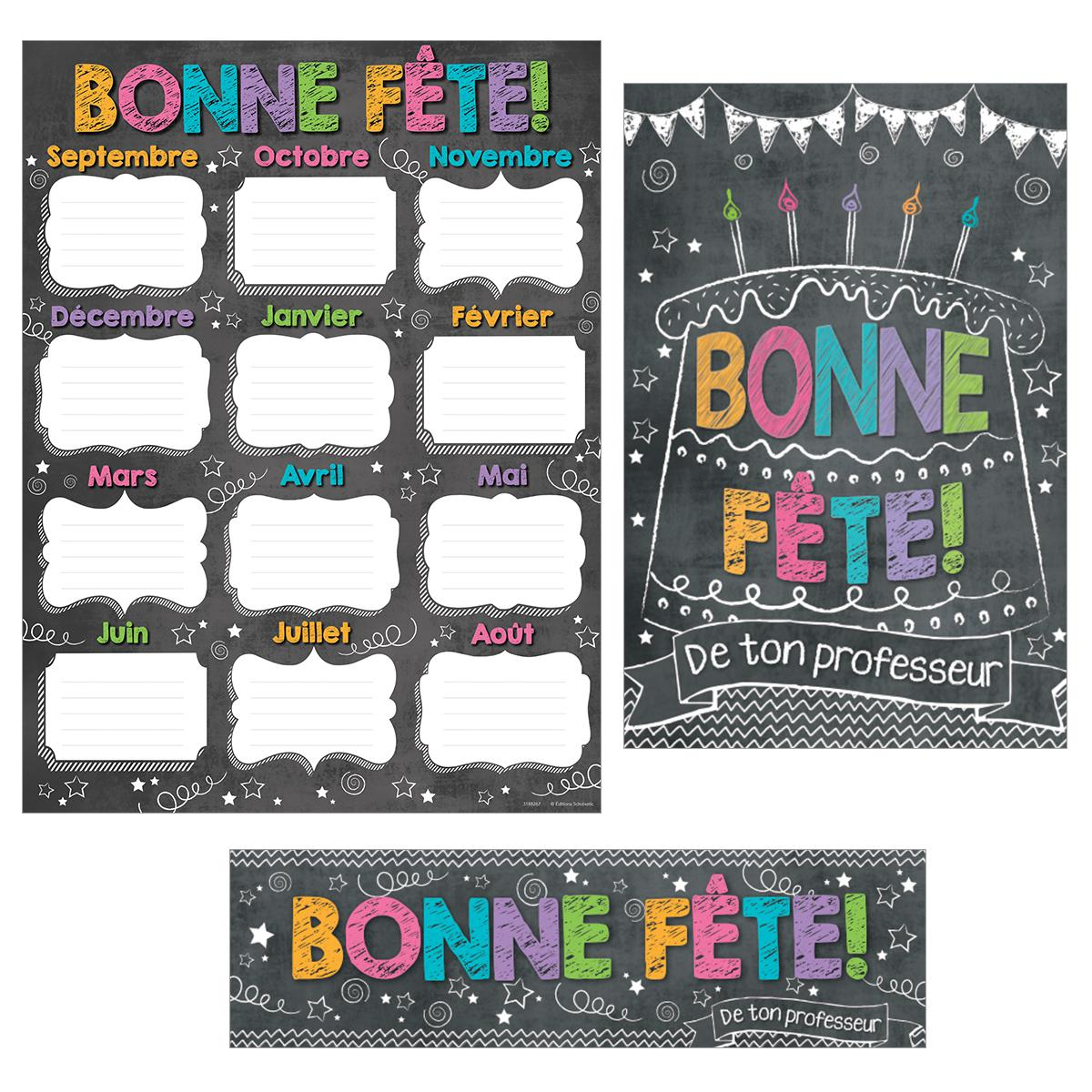 French Chalkboard Happy Birthday Reward Pack