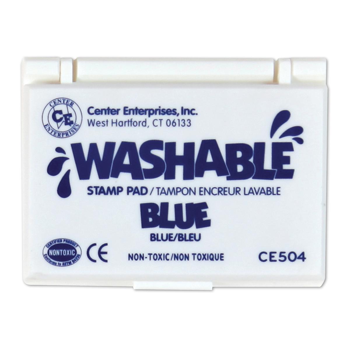 Tampon encreur lavable : bleu