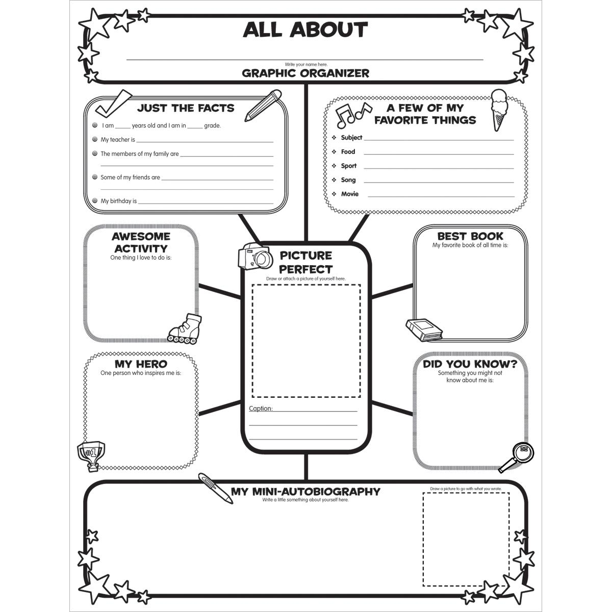Graphic Organizer Posters: All About Me Web