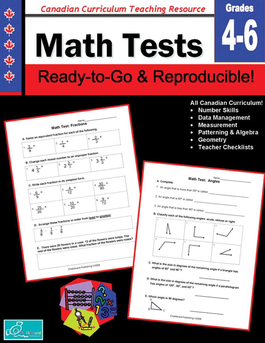 Math Tests Gr. 4-6