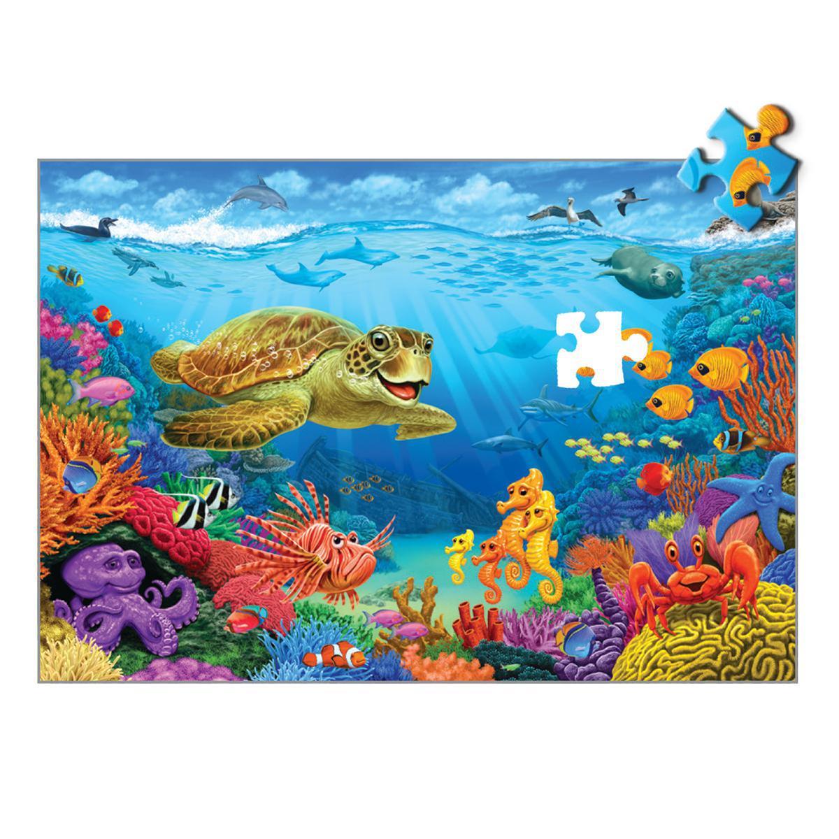 Casse-tête de plancher géant : Monde sous-marin