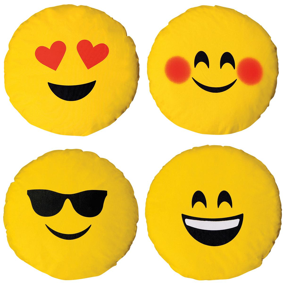 Emoji Circle Cushions Set